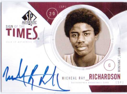 2010-11 SP Authentic Sign of the Times #SMR Micheal Ray Richardson