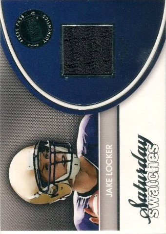 2011 Press Pass Legends Saturday Swatches Silver #SSWJL Jake Locker
