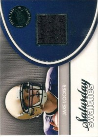 2011 Press Pass Legends Saturday Swatches Silver #SSWJL Jake Locker front image