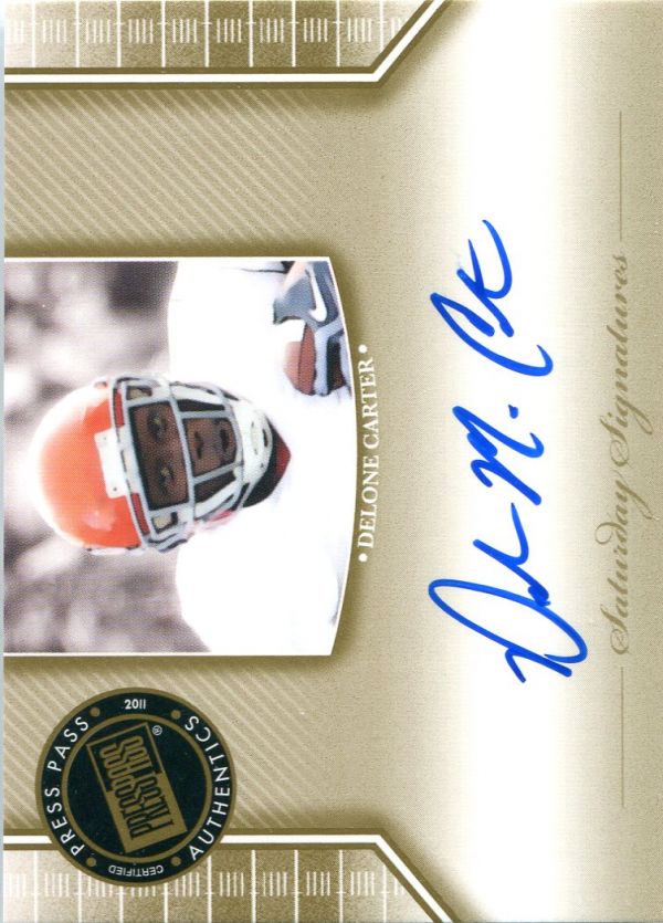 2011 Press Pass Legends Saturday Signatures #SSDC Delone Carter