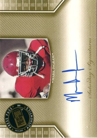 2011 Press Pass Legends Saturday Signatures #SSMI2 Mark Ingram