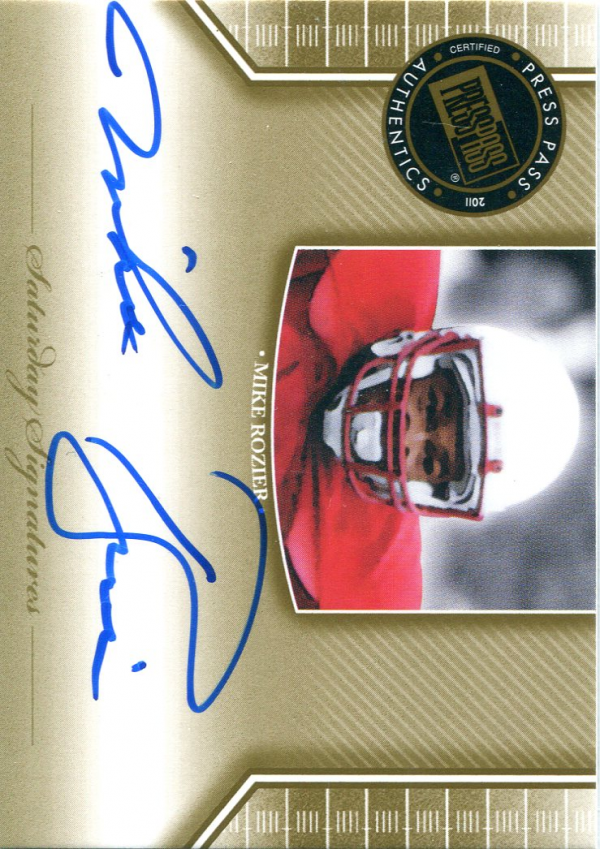 2011 Press Pass Legends Saturday Signatures #SSMR Mike Rozier
