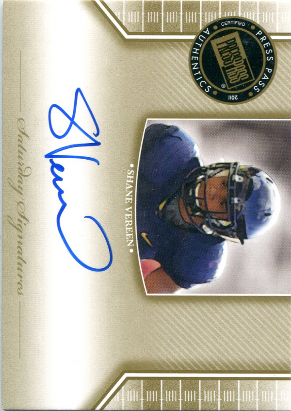2011 Press Pass Legends Saturday Signatures #SSSV Shane Vereen