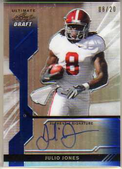 2011 Leaf Ultimate Draft Metal Prismatic Blue #UJJ2 Julio Jones