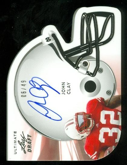 2011 Leaf Ultimate Draft Helmet Die Cuts #HJC1 John Clay