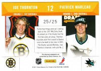 2010-11 Playoff Contenders Draft Tandems Autographs #12 Patrick Marleau/Joe Thornton back image