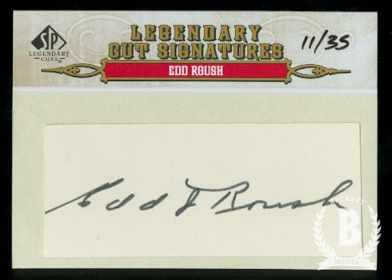 2011 SP Legendary Cuts Legendary Signatures #57 Edd Roush/35