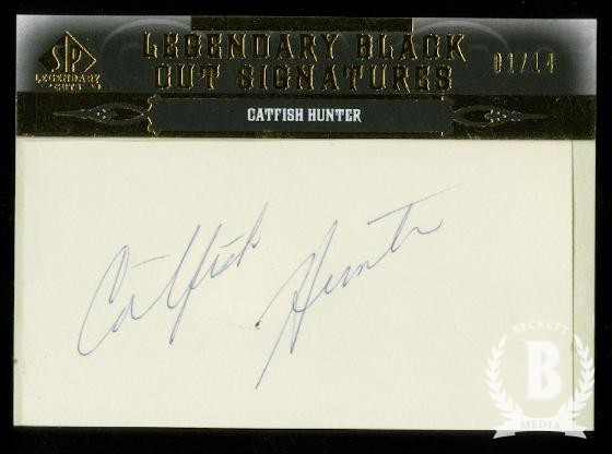 2011 SP Legendary Cuts Legendary Black Signatures #NYCH Catfish Hunter/14