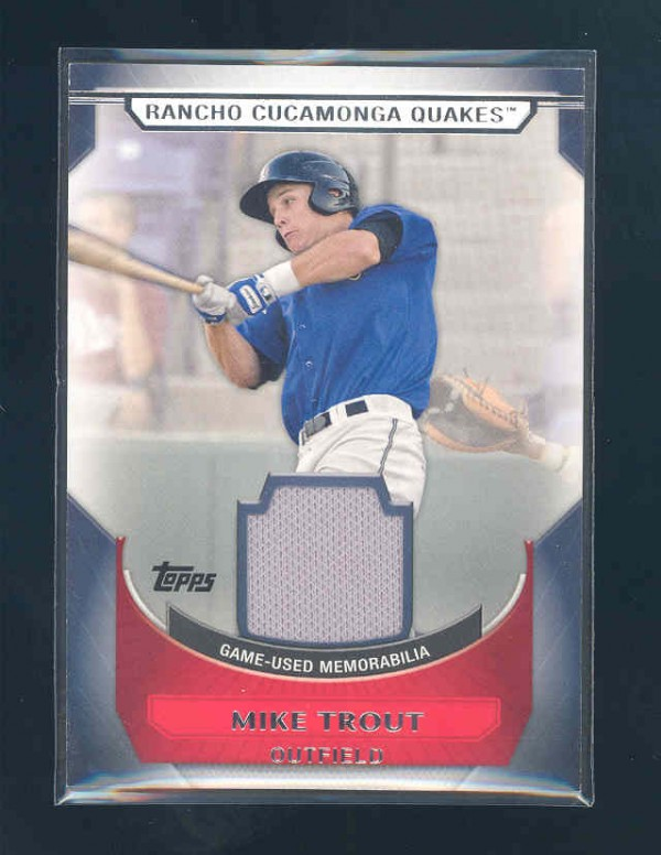 2011 Topps Pro Debut Materials #MT Mike Trout