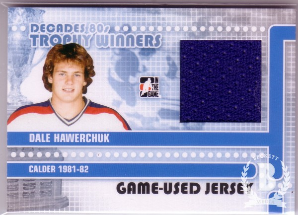 2010-11 ITG Decades 1980s Trophy Winners Jerseys Black #TWJ05 Dale Hawerchuk