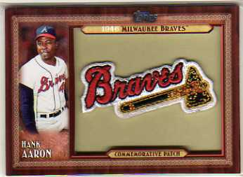 2011 Topps Commemorative Patch #HA Hank Aaron S2