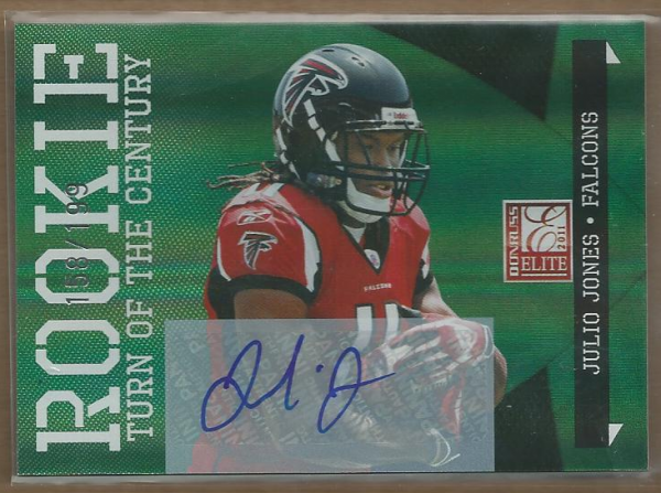 2011 Donruss Elite Turn of the Century Autographs #157 Julio Jones/199