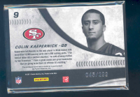 2011 Donruss Elite New Breed Jersey #9 Colin Kaepernick back image