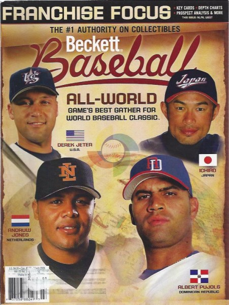 1984-11 Beckett Baseball #252 Derek Jeter/Andruw Jones/Ichiro Suzuki/Albert Pujols (March 2006)