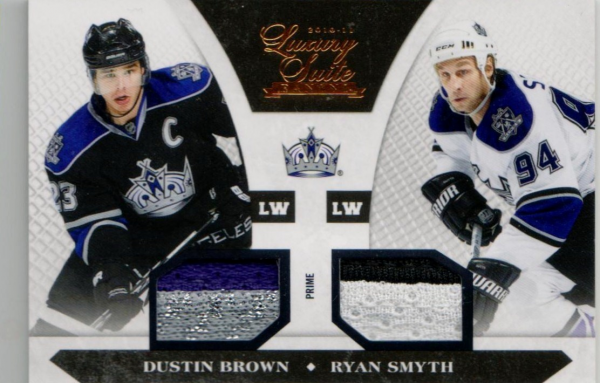 2010-11 Luxury Suite Jerseys Prime #85 Dustin Brown/Ryan Smyth/50