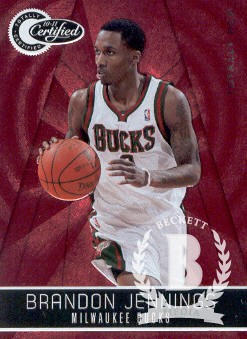 2010-11 Totally Certified Red #9 Brandon Jennings