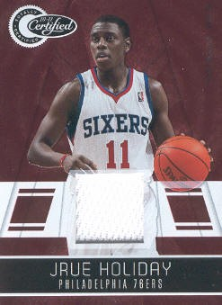 2010-11 Totally Certified Red Materials #3 Jrue Holiday/249