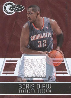 2010-11 Totally Certified Red Materials #6 Boris Diaw/249