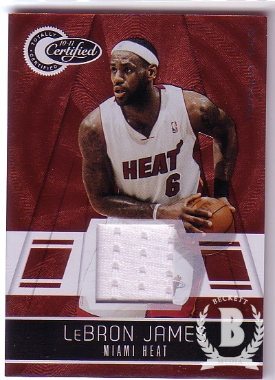 2010-11 Totally Certified Red Materials #45 LeBron James/249