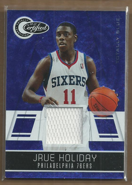 2010-11 Totally Certified Blue Materials #3 Jrue Holiday/99
