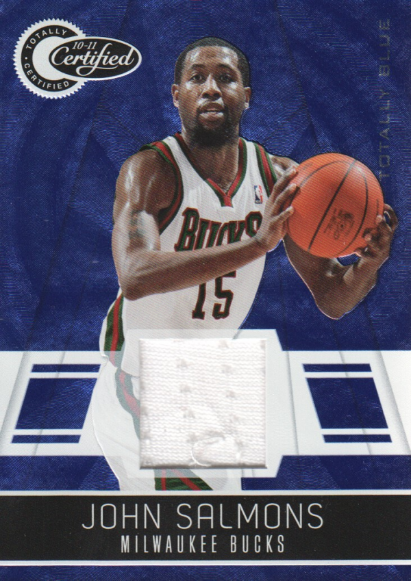 2010-11 Totally Certified Blue Materials #11 John Salmons/99