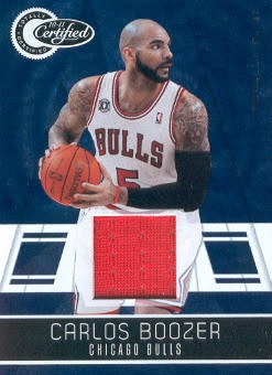 2010-11 Totally Certified Blue Materials #15 Carlos Boozer/99