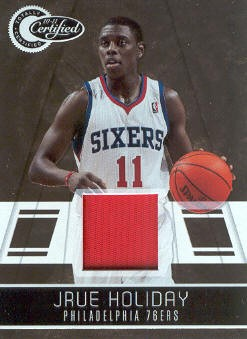 2010-11 Totally Certified Gold Materials Prime #3 Jrue Holiday/25