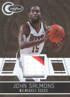 2010-11 Totally Certified Gold Materials Prime #11 John Salmons/25