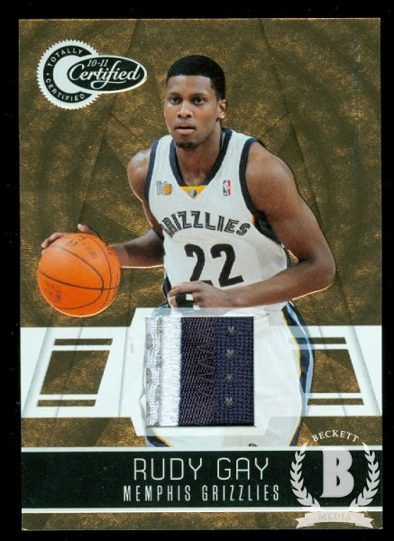2010-11 Totally Certified Gold Materials Prime #37 Rudy Gay/25