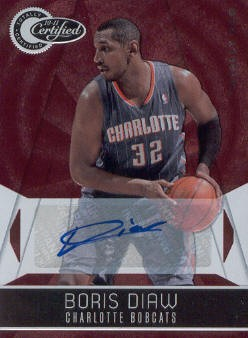 2010-11 Totally Certified Red Autographs #6 Boris Diaw/49