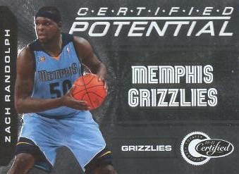 2010-11 Totally Certified Potential #11 Zach Randolph