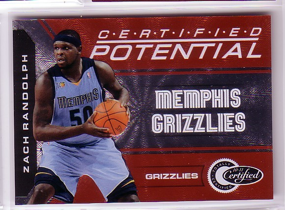 2010-11 Totally Certified Potential Red #11 Zach Randolph