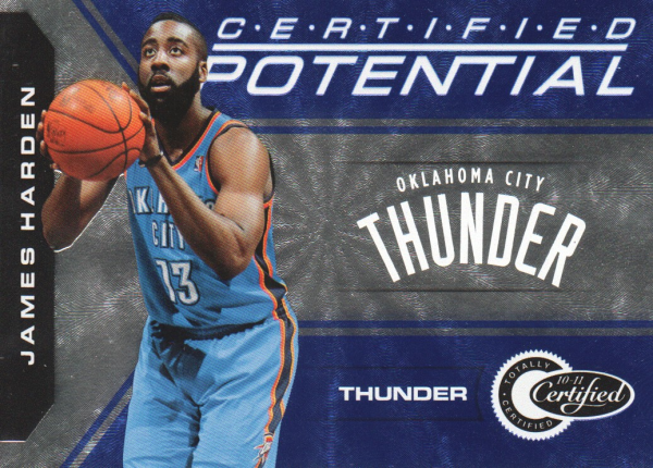 2010-11 Totally Certified Potential Blue #14 James Harden