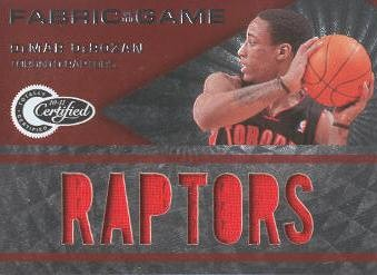 2010-11 Totally Certified Fabric of the Game Jumbo Team #5 DeMar DeRozan/299