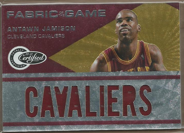 2010-11 Totally Certified Fabric of the Game Jumbo Team #7 Antawn Jamison/299