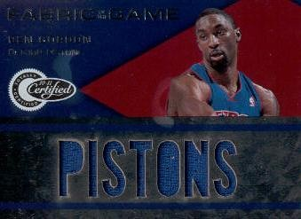 2010-11 Totally Certified Fabric of the Game Jumbo Team #8 Ben Gordon/299