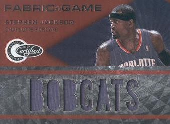 2010-11 Totally Certified Fabric of the Game Jumbo Team #12 Stephen Jackson/299