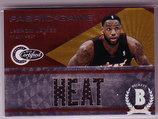 2010-11 Totally Certified Fabric of the Game Jumbo Team #13 LeBron James/299