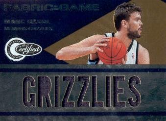 2010-11 Totally Certified Fabric of the Game Jumbo Team #17 Marc Gasol/299