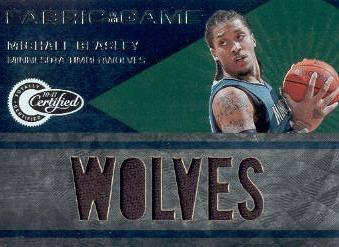 2010-11 Totally Certified Fabric of the Game Jumbo Team #21 Michael Beasley/299
