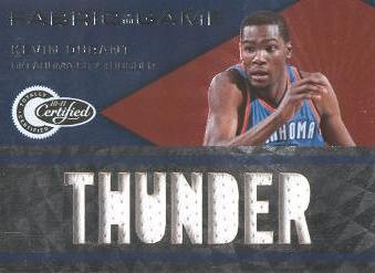 2010-11 Totally Certified Fabric of the Game Jumbo Team #23 Kevin Durant/299