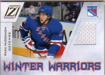 2010-11 Zenith Winter Warriors Materials #RM Ryan McDonagh