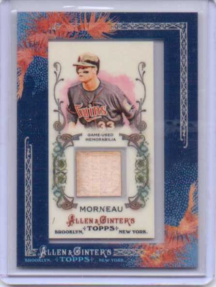 2011 Topps Allen and Ginter Relics #JMO Justin Morneau