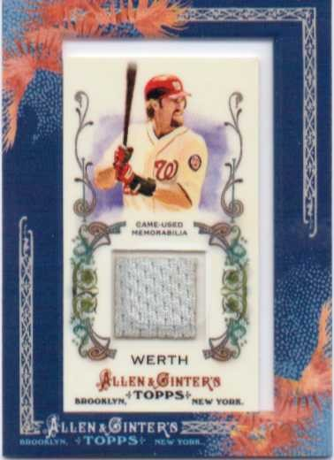 2011 Topps Allen and Ginter Relics #JW Jayson Werth