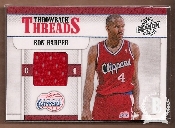 2010-11 Panini Season Update Throwback Threads #12 Ron Harper/399