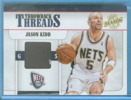 2010-11 Panini Season Update Throwback Threads Prime #11 Jason Kidd/49