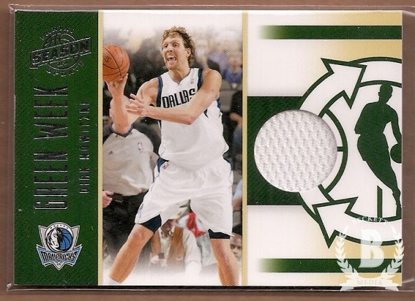 2010-11 Panini Season Update Green Week Jerseys #10 Dirk Nowitzki/399
