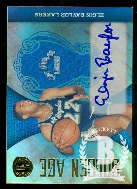 2010-11 Panini Gold Standard Golden Age Signatures #18 Elgin Baylor/5