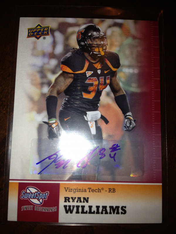 2011 Sweet Spot Autographs #100 Ryan Williams