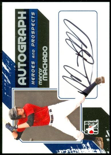 2011 ITG Heroes and Prospects Full Body Autographs Silver #MMA Manny Machado S2